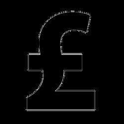 British Pound Money Symbol Sticker