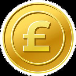 British Pound Sticker