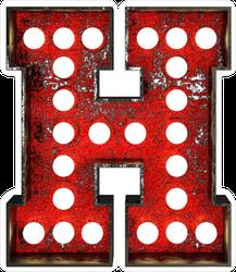 Broadway Style Letter H Sticker