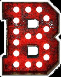 Broadway Style Light Bulb Font Letter B Sticker