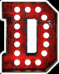 Broadway Style Light Bulb Font Letter D Sticker