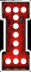 Broadway Style Light Bulb Font Letter I Sticker