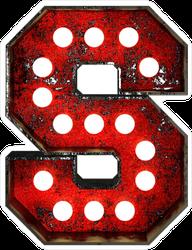 Broadway Style Light Bulb Font Letter S Sticker