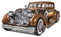 Bronze Retro Car Sticker