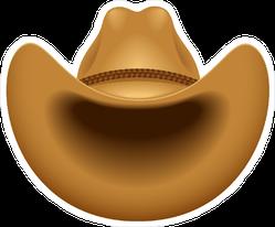 Brown Cowboy Hat Sticker