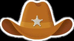 Brown Sheriff Hat Sticker