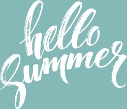Brush Lettering Hello Summer Sticker