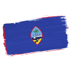 Brush Painted Flag Of Guam Sticker