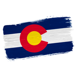 Brush Painted Flag State Of Colorado Sticker