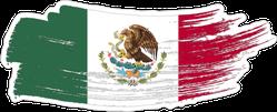 Brush Stroke Mexico Sticker