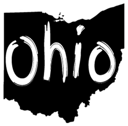 Brush Stroke Ohio State Sticker