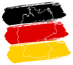 Brush Strokes Flag Of Germany Sticker