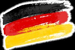 Brush Strokes German Flag Sticker