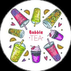 Bubble Tea Hand Drawn Sticker
