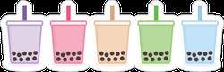 Bubble Tea Tapioca Boba Sticker