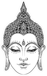 Buddha Face Spiritual Art Sticker
