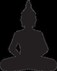 Buddha Icon Silhouette Sticker
