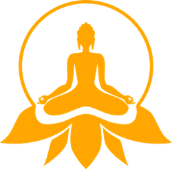 Buddha Sitting In A Lotus Position Sticker