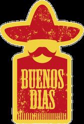 Buenos Dias Poster Sticker