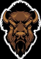 Buffalo Bison Mascot Head Sticker