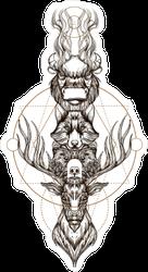 Buffalo, Deer, Bear, and Wolf Totem Sticker