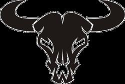 Buffalo Skull Silhouette