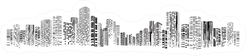 Building And City Illustration At Night City Scene Sticker