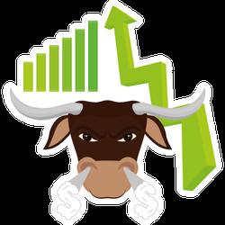 Bull Market Stock Exchange Sticker