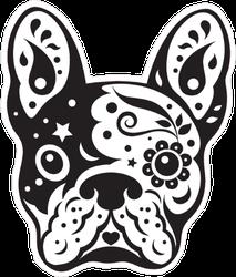 Bulldog Sugar Skull Sticker