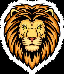 Burly Lion Head Sticker