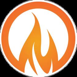 Burning Circle Fire Sticker