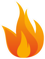 Burning Flame Sticker