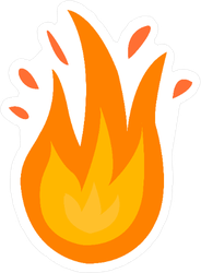 Bursting Flames Sticker