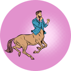 Businessman Centaur Ready To Fight Sticker