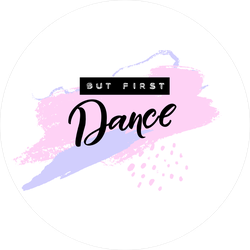 But First Dance Text Sticker