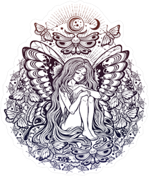 Butterfly Fairy Sticker