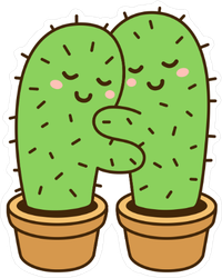 Cactus Hug Sticker