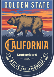 California Banner Sticker