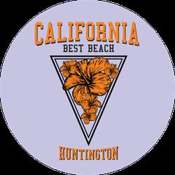 California Best Beach Huntington Purple Sticker