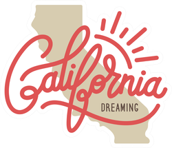 California Dreaming State Sticker