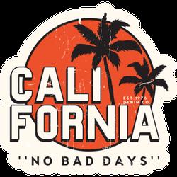 California No Bad Days Sticker