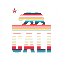 California Rainbow Sticker