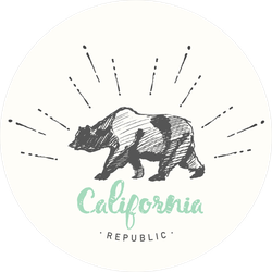 California Republic Vintage Emblem Sticker