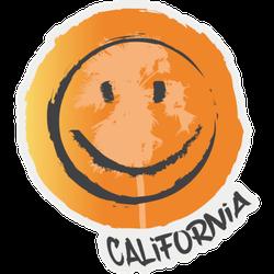 California Smile Lettering Sticker