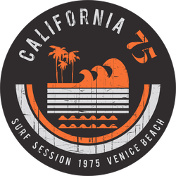 California Surf Session 1975 Sticker