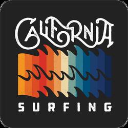California Surfing Waves Sticker