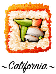 California Sushi Roll Sticker