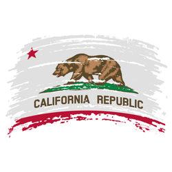 California Us Flag In Grunge Sticker