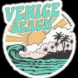California Venice Beach Typography Sticker