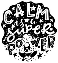 Calm Is A Super Power Yoga/Meditation Sticker